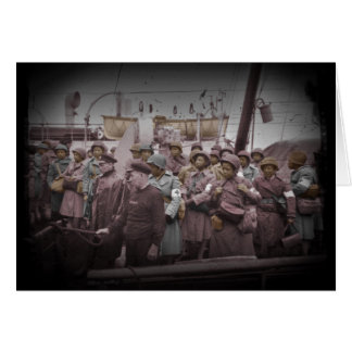 Enfermeras del afroamericano en la nave tarjeta de felicitación