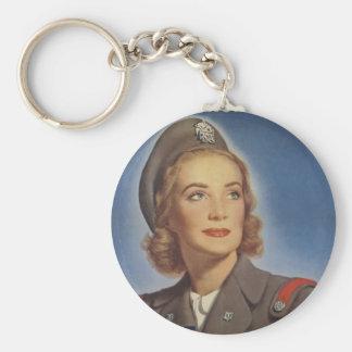 Enfermeras del cadete del vintage llavero