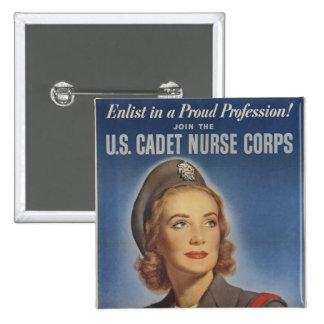 Enfermeras del cadete del vintage pins