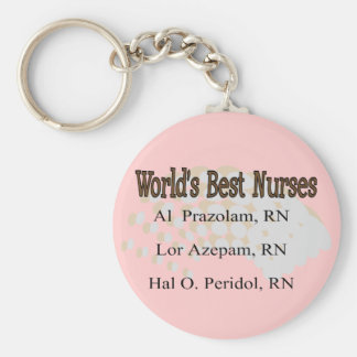 """""""Enfermeras del mejor del mundo"""" --Regalos hilaran Llavero Redondo Tipo Pin"""