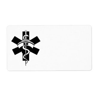 Enfermeras del RN Etiqueta De Envío