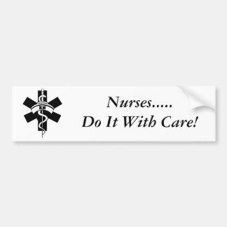 Enfermeras del RN Etiqueta De Parachoque