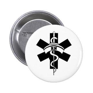 Enfermeras del RN Pin Redondo 5 Cm
