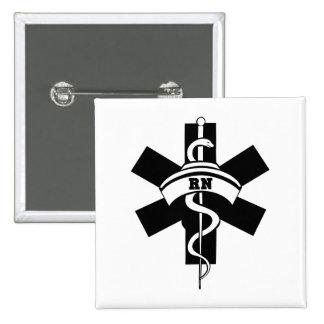 Enfermeras del RN Pin Cuadrada 5 Cm