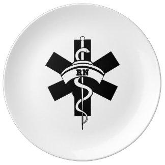 Enfermeras del RN Platos De Cerámica