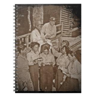 Enfermeras en el correo que consigue pacífico del  note book