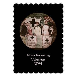 Enfermeras en la estación de reclutamiento invitación 12,7 x 17,8 cm