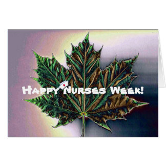 Enfermeras felices de la hoja/del canadiense del tarjeta de felicitación