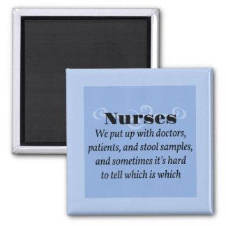 Enfermeras Imán Cuadrado
