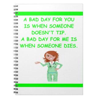 enfermeras cuadernos