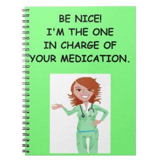 enfermeras libros de apuntes con espiral
