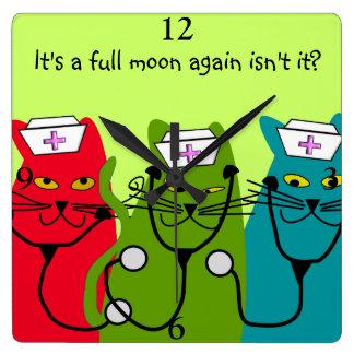 """Enfermeras """"Luna Llena """" del gato del reloj de la"""