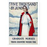 Enfermeras necesarias tarjetas postales