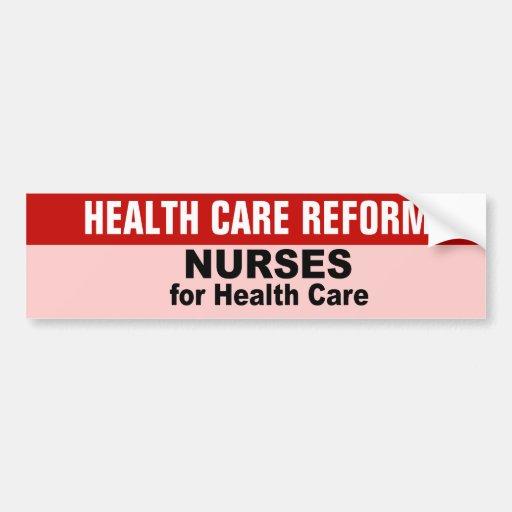Enfermeras para la atención sanitaria etiqueta de parachoque