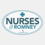 Enfermeras para Mitt Romney 2012 (pegatina oval)