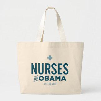 Enfermeras para Obama Bolsa Tela Grande
