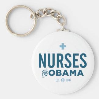Enfermeras para Obama Llavero Redondo Tipo Pin