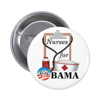¡Enfermeras para Obama! Pins