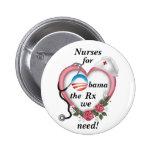Enfermeras para Obama Pin