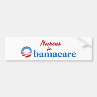 Enfermeras para Obamacare Pegatina De Parachoque