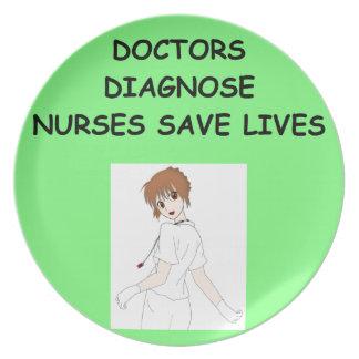 enfermeras plato