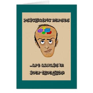 Enfermeras psiquiátricas tarjeta de felicitación