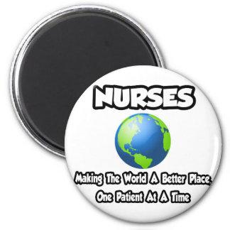 Enfermeras… que hacen el mundo un mejor lugar iman para frigorífico