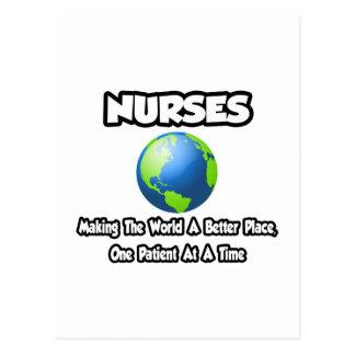 Enfermeras… que hacen el mundo un mejor lugar tarjeta postal