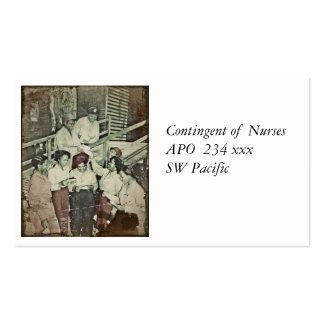 Enfermeras que reciben el correo tarjetas de visita