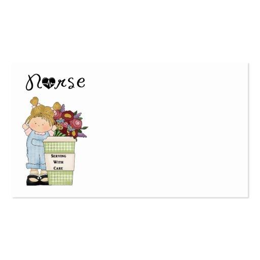 Enfermeras que sirven con cuidado tarjeta de negocio