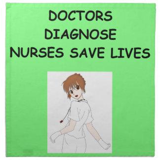 enfermeras servilleta de papel