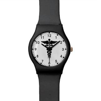 Enfermeras y doctores médicos del símbolo relojes de pulsera