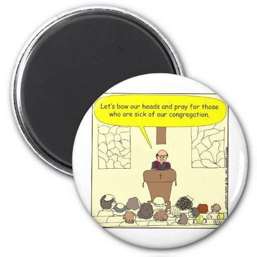 Enfermo 345 de nuestro dibujo animado del color de imán para frigorífico