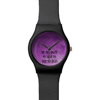Enfermo como nuestros secretos relojes de pulsera