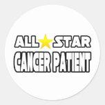 Enfermo de cáncer de All Star Pegatinas Redondas