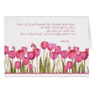 enfermo de cáncer del estímulo, cristiano tarjeta de felicitación