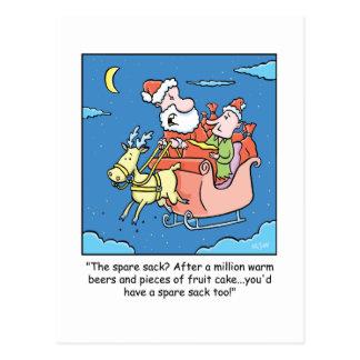 Enfermo de Papá Noel del dibujo animado del Postal