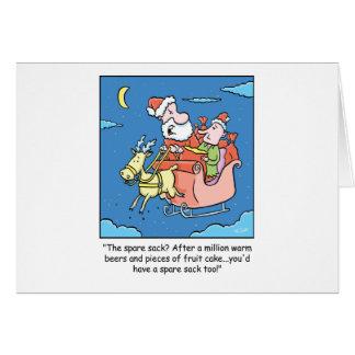 Enfermo de Papá Noel del dibujo animado del Tarjeta De Felicitación