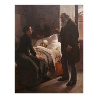 Enfermo del EL Niño de Arturo Michelena 1886 Membrete A Diseño