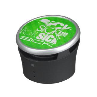 Enfermo; Rayas verdes de neón Altavoz Bluetooth