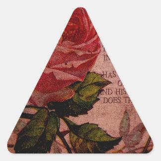 Enfermo subió O del arte de mil Calcomanía Triangulo Personalizadas