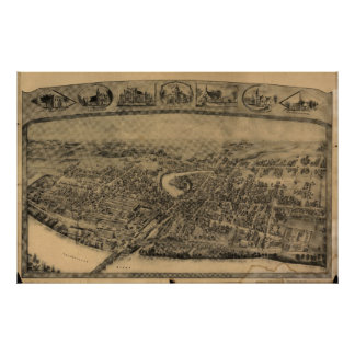 Enfield Connecticut 1908 Panoramic Map Print