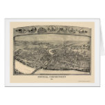 Enfield, CT Panoramic Map - 1908 Card