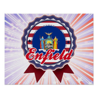 Enfield, NY Poster