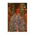 Enfoque de las luces de navidad del árbol de Live  Postal