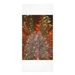 Enfoque de las luces de navidad del árbol de Live  Tarjeta Publicitaria A Todo Color