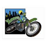 Enfoque Motorcross Tarjetas Postales