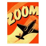 Enfoque retro de los aviones del aeroplano del postal