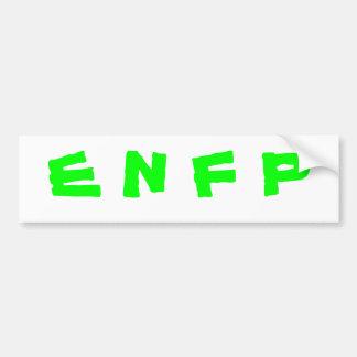 ENFP bumper sticker