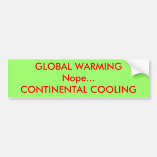 ENFRIAMIENTO CONTINENTAL GLOBAL de WARMINGNope… Pegatina Para Auto